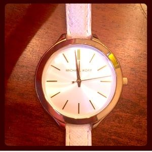 Michael Kors Gold & Cream Watch